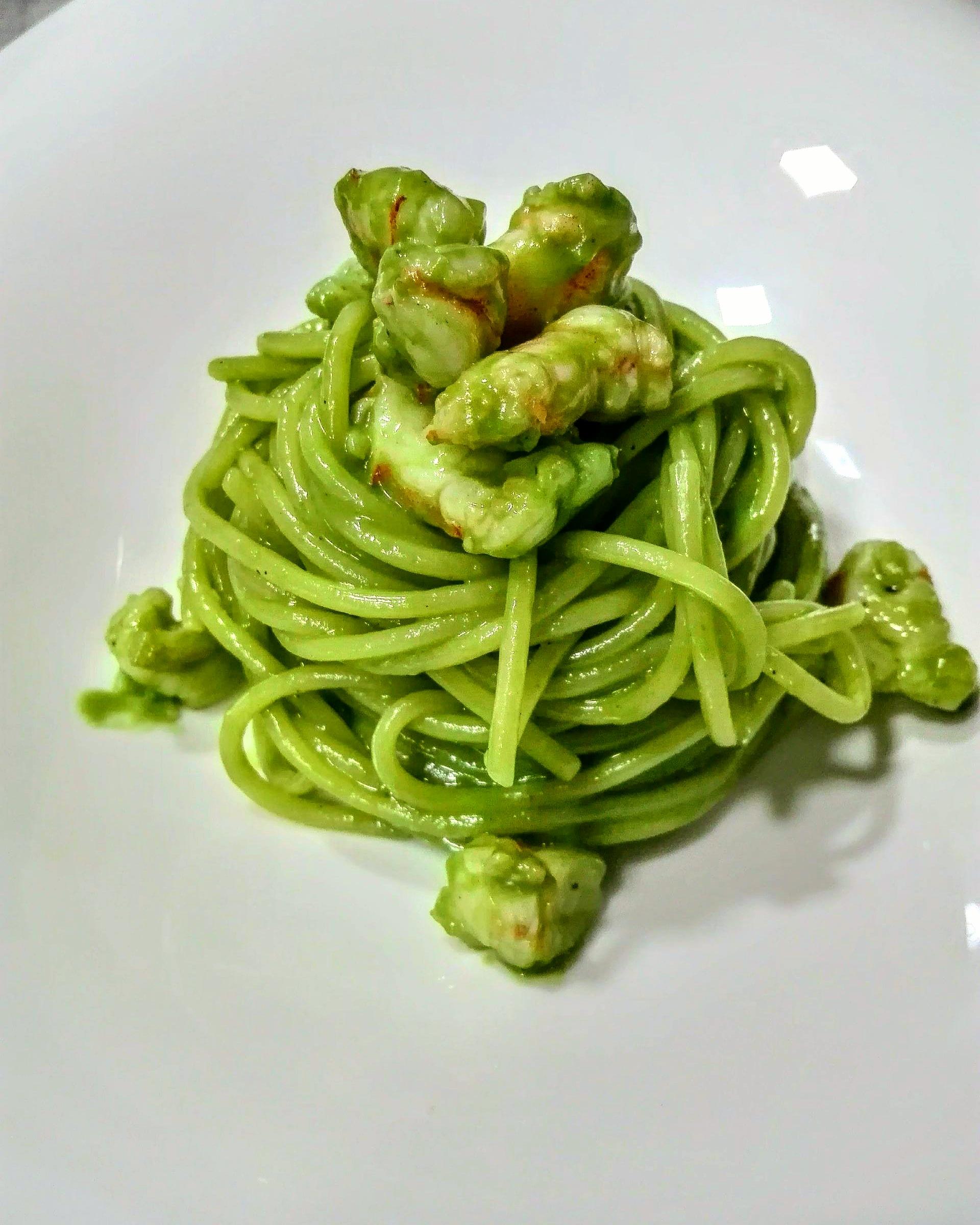 Garofalo - Spaghetti Garofalo con carbonara de gambas y plancton marino